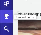 Leaderboard icon in Silktide's sidebar